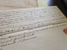 Historic manuscript at the Burton Historical Collection © Kate E. Korth